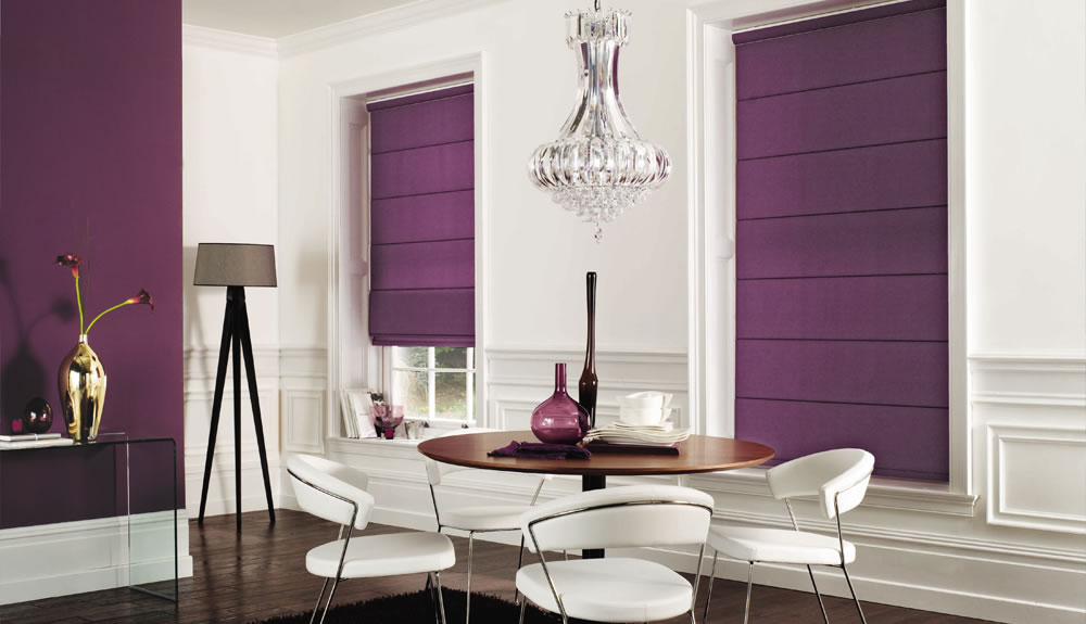purple-roman-blind